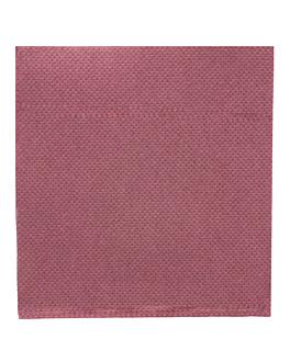 serviettes ecolabel 'double point' 18 g/m2 20x20 cm prune ouate (2400 unitÉ)