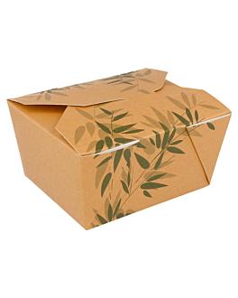 scatole americane per micro. 'feel green' 780 ml 300 g/m2 + 12pp 11,2x9x6,4 cm avana cartone (50 unitÀ)