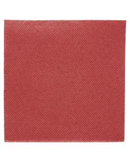 serviettes ecolabel 'double point' 18 g/m2 20x20 cm bordeaux ouate (2400 unitÉ)