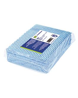 "50 u. lavettes ""perfokleen"" 45 g/m2 36x44 cm bleu viscose (1 unitÉ)"