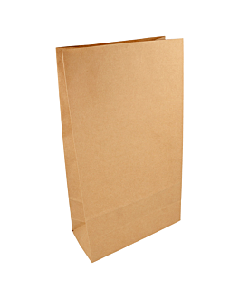 sacs sos sans anses 80 g/m2 20+9x34,5 cm naturel kraft (500 unitÉ)