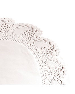 greaseproof doilies 40 gsm Ø 27 cm white greaseproof parch. (250 unit)