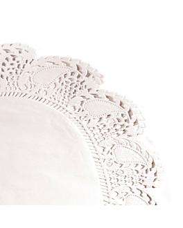 dentelles rondes ingraissables 40 g/m2 Ø 27 cm blanc parch.ingraissable (250 unitÉ)