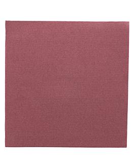 ecolabel napkins 'double point' 18 gsm 39x39 cm plum tissue (1200 unit)