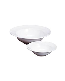 "platos ""pasta"" 950 ml Ø 21,5x8 cm blanco porcelana (24 unid.)"