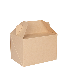 cases for take away meals 'thepack' 220 gsm 18x12x9 cm natural nano-micro corrugated cardboard (100 unit)
