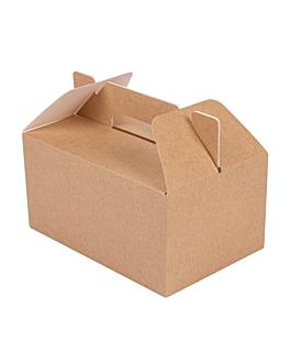 boÎtes transport de repas 'thepack' 220 g/m2 18x12x9 cm naturel carton ondulÉ nano-micro (100 unitÉ)