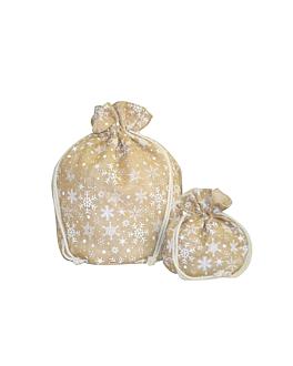 sacos - stars 38x56 cm natural juta (10 unidade)