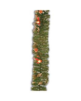 guirnalda + adornos 270 cm verde (1 unid.)