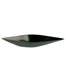 """recipientes aperitivos """"canoa"""" 30 ml 13x4,1x2 cm preto ps (1152 unidade)"""