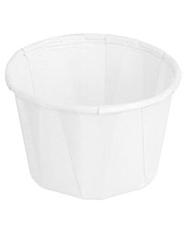 pots traiteur plissÉ 37 ml Ø5x3,3 cm blanc parch.ingraissable (250 unitÉ)