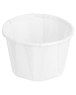 terrina carta plissettata 37 ml Ø5x3,3 cm bianco pergamana antigrassi (250 unitÀ)