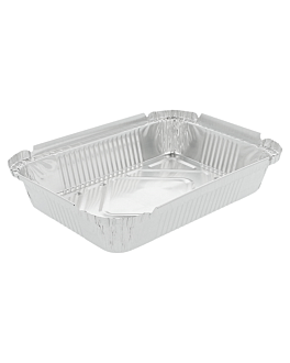 recipientes rectangulares 550 ml 19,2x14x3 cm aluminio (100 unid.)