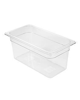 gastronorm pan 1/3 4,9 l 32,5x17,6x15 cm clear polycarbonate (1 unit)
