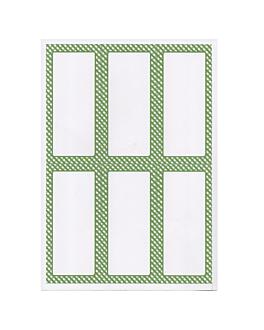 100 fogli din a4 6 etichette rettangolari 6,2x13,5 cm bianco carta (1 unitÀ)