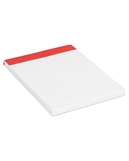 order pads (1/16) 80 sheets 10,5x7,5 cm white paper (160 unit)