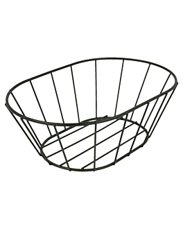 tuscan style basket 21,6x14x7,6 cm black steel (24 unit)