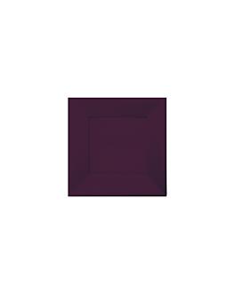 25 u. assiettes carrees 18x18 cm aubergine ps (20 unitÉ)
