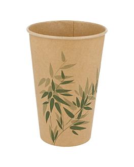 cups 'feel green' 16 oz - 480 ml 250 + 25pe gsm Ø9x12,8 cm brown cardboard (1000 unit)