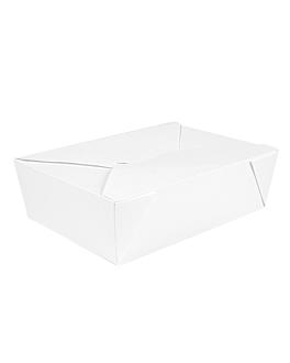 boÎtes amÉricaines micro-ondables 'thepack' 1980 ml 250 + 12pp g/m2 19,6x14x6,2 cm blanc carton ondulÉ nano-micro (200 unitÉ)