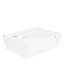 microwavable boxes rectangular 'thepack' 1980 ml 250 + 12pp gsm 19,6x14x6,2 cm white nano-micro corrugated cardboard (200 unit)