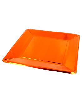 pratos quadrados 405 g/m2 25x25 cm cobre cartÃo (200 unidade)