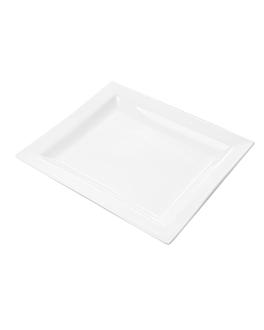 platos rectangulares 27x23,5 cm blanco porcelana (12 unid.)