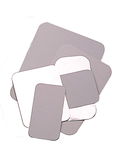 tapas para cÓdigo 135.68 21,2x14,9 cm blanco aluminio (100 unid.)