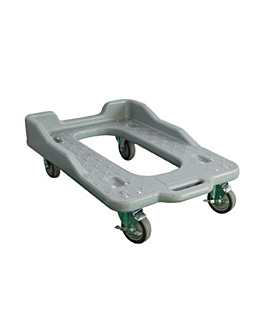base with wheels for isothermal cases  grey plastic (1 unit)