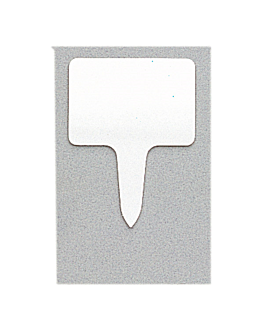 10 u. rectangular price tags 8x5,5x0,1 cm white pvc (1 unit)