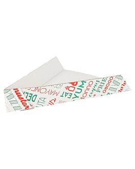 pÁs triang. pizzas 'parole' 21x16,5x3,5 cm branco cartÃo (1200 unidade)