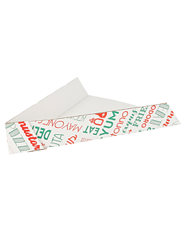 palas triang. pizzas 'parole' 21x16,5x3,5 cm blanco cartÓn (1200 unid.)
