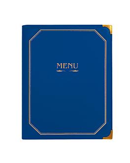 menu card 8 sleeves din-a4 25,5x33 cm blue pvc (1 unit)