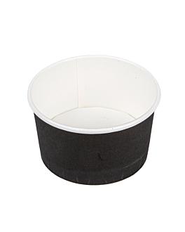 ice-cream tubs 180 ml 250 + 18pe gsm Ø 8,7x5,2 cm black cardboard (2000 unit)