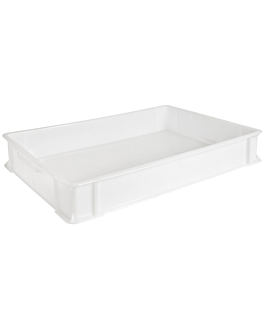 stackable container for pizza dough 15 l 60x40x9 cm white hdpe (1 unit)