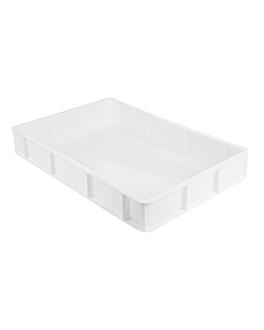 contenedor apilable para masa pizza 15 l 60x40x9 cm blanco pehd (1 unid.)
