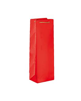 10 u. sachetti portabottiglie con manici a corda 150 gr/m² 12,3+7,8x36 cm rosso (1 unitÀ)