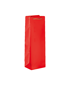 10 u. bolsa porta botellas cordÓn 150 g/m2 12,3+7,8x36 cm rojo (1 unid.)