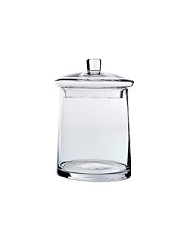 pot dÉcoration avec couvercle Ø 19,5/21,5x29,5 cm transparent verre (1 unitÉ)