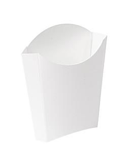 boÎtes À frites jumbo 'thepack' 165 g 230 g/m2 13,5x8,5x16 cm blanc carton ondulÉ nano-micro (1200 unitÉ)