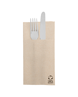 kangaroo napkins 'ecolabel - double point' 19 gsm 39x40 cm natural recycled tissu (1400 unit)