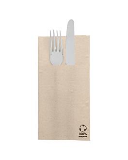 servilletas canguro 'ecolabel - double point' 19 g/m2 39x40 cm natural tissue reciclado (1400 unid.)