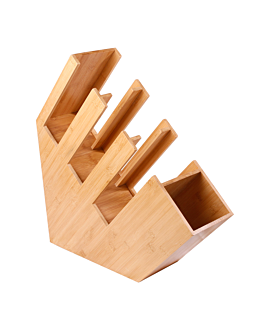 glass & lids organizer 14x50x50 cm natural bamboo (2 unit)