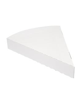triangular containers pizza 'thepack' 230 gsm 18x23x3 cm white nano-micro corrugated cardboard (500 unit)