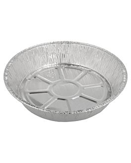 recipientes tartaletas 1070 ml Ø 21x4 cm aluminio (100 unid.)