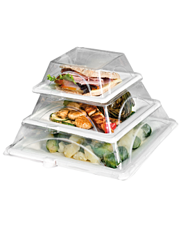 lids for item 215.94 'bionic' 27x27x5 cm clear pet (150 unit)
