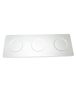 tray for 3 bells 47,7x15,7 cm porcelain (1 unit)