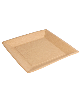 lacquered square plates 255 gsm 18x18 cm natural cardboard (400 unit)