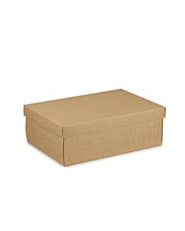 10 u. cajas rectangulares 34x25x12 cm natural kraft (1 unid.)