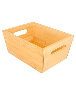 bread box 20x15x9 cm natural bamboo (1 unit)